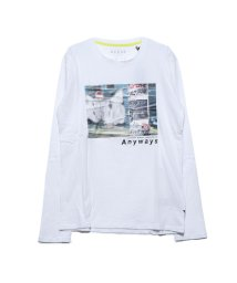 GUESS/ゲス GUESS ANYWAYS SECRET SPOT L/S TEE (TRUE WHITE)/502962411