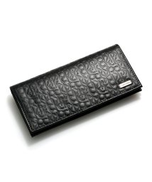 Calvin Klein/Calvin Klein 74283 カルバンクライン CKエンボス 二つ折り長財布 財布 ブラック 黒 74283-BLK メンズ/502975560