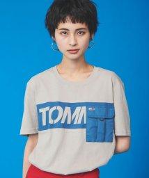 TOMMY JEANS/コントラストポケットTシャツ/502984816