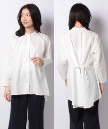 MARcourt/【mizuiro ind】band collar flared shirt/502987934