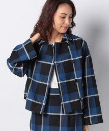 LAPINE BLEUE/【セットアップ対応商品】オックスチェック ショートジャケット/502992798