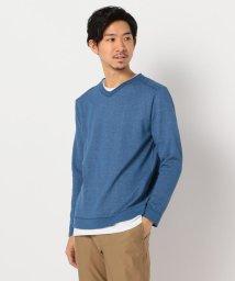 GLOSTER/綿/麻 レイヤードニット インナーTシャツ付き/502994640