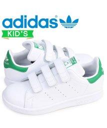 adidas/アディダス オリジナルス adidas Originals スタンスミス ベルクロ スニーカー キッズ STAN SMITH CF C ホワイト 白 M2060/503003413