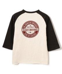 Schott/【直営限定】CIRCLE LOGO QS T-SHIRT/サークルロゴ クォータースリーブ Tシャツ/503004966
