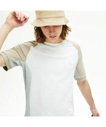 LACOSTE Mens/カラーブロックピケクルーネックTシャツ/503005013