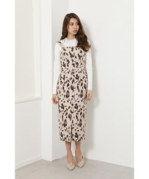 rienda/Leopard JQ Jumper Dress/503005238