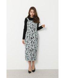 rienda/Leopard JQ Jumper Dress/503005238