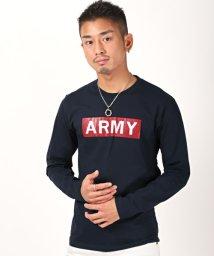 LUXSTYLE/ARMYロンT/ロンT メンズ 長袖Tシャツ クルーネック ロゴ/503005549