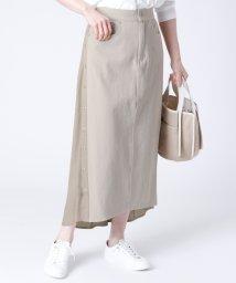 LASUD/[MAITRESSE] サイドボタン 異素材スカート/503005826