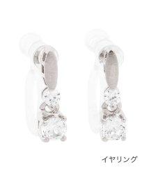 cream dot/メタル×ラウンドビジューのちょい揺れピアス/イヤリング/503005885