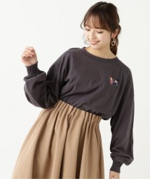 framesRayCassin/女の子イラスト刺繍ロンT/503006610