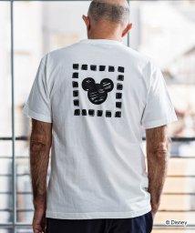 1PIU1UGUALE3 RELAX/1PIU1UGUALE3 RELAX(ウノピゥウノウグァーレトレ)手描き風 MICKEY デザインTシャツ/503006782