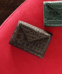 sankyoshokai/クロコダイルレザー三つ折りミニ財布/503006852
