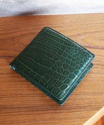 sankyoshokai/クロコダイルレザー折り財布マット加工両カード/503006856