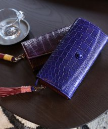sankyoshokai/クロコダイルレザー長財布フラップ式タッセル付き/503006861