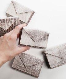 sankyoshokai/ヒマラヤクロコダイルレザー三つ折りミニ財布/503006863