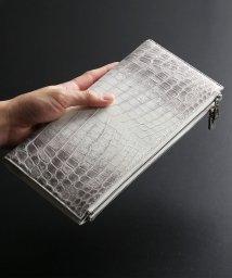 sankyoshokai/ヒマラヤクロコダイルレザーダブルファスナー長財布大きい 手帳型/503006865