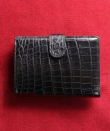 sankyoshokai/クロコダイルレザーミニ財布無双マット加工/503006868