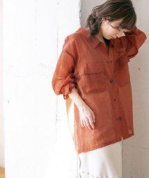 KBF/【予約】WEB限定 シースルーステッチシャツ/503008036