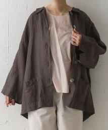 URBAN RESEARCH DOORS/mizuiro ind linen wide shirts coat/503008430