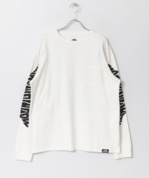SENSE OF PLACE/MOUNTAINSMITH スリーブプリントTシャツ/503008465