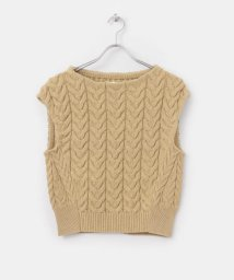 URBAN RESEARCH DOORS/unfil cotton boucle cable-knit/503008572