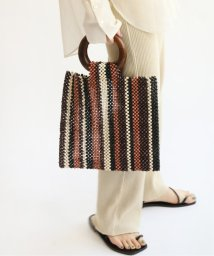 JOURNAL STANDARD relume/《予約》【MARCHER/マルシェ】ウッドビーズスクエアBAG:バッグ◆/503010204