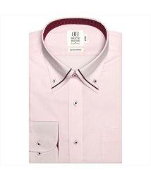 BRICKHOUSE/ワイシャツ 長袖 形態安定 パイピング風ボタンダウン ピンク スリム/503010298