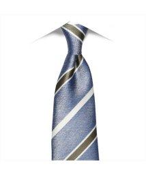 BRICKHOUSE/ネクタイ / ビジネス / フォーマル / 絹100% ブルー系 ストライプ柄/503010306