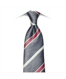 BRICKHOUSE/ネクタイ ビジネス フォーマル 絹100% ネイビー系ストライプ/503010308