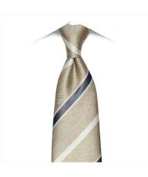BRICKHOUSE/ネクタイ ビジネス フォーマル 絹100% ベージュ系ストライプ/503010311