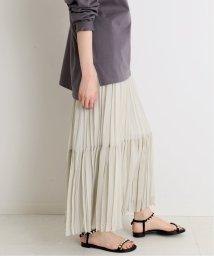 IENA/《追加》ジョーゼットプリーツティアードスカート◆/503010621