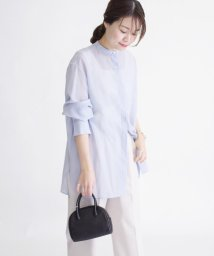SHIPS WOMEN/《予約》シアーバンドカラーシャツ◆/503010983