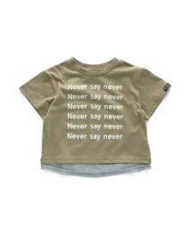 BREEZE/WEB限定 レイヤード風ロゴ半袖Tシャツ/502878834