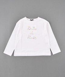 BeBe/フラワーロゴプリントスムースTシャツ/502977485