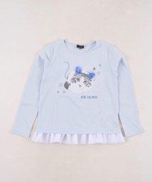 BeBe/アニマルプリント裾フリルTシャツ/502977486