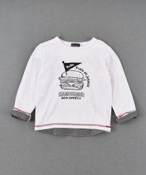 BeBe/天竺バーガープリントTシャツ/502980785