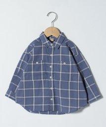 petit main/ポケットつきチェックシャツ/502984791
