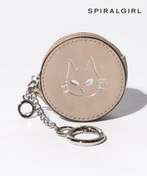 SPIRALGIRL/【SPIRALGIRLスパイラルガール】猫ちゃんエンボス加工キーホルダー付きコインケース/502988581
