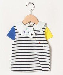 babycheer/ねこ衿ボーダー半袖Tシャツ/502992754