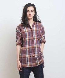 collex/【WEB/一部店舗限定】チェックドルマンシャツ/503010885