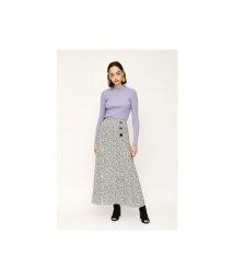 SLY/LEOPARD SPOT SIDE SLIT ロングスカート/503011529