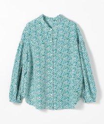 Ballsey/ジオメトリックフラワープリント 2-wayギャザースリーブシャツ/503012610