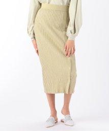 MACPHEE/コットンジャージーピンタック Iラインスカート/503012634