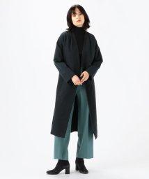 TOMORROWLAND collection/シャイニーグログラン ノーカラーベルテッドコート/503012638
