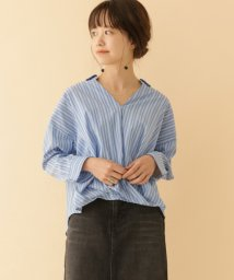 URBAN RESEARCH OUTLET/【ITEMS】ストライプスキッパーカシュクールシャツ/502958840
