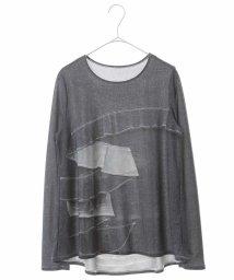 HIROKO BIS/【洗濯機で洗える/日本製】デニムクラフトプリントカットソー/503012933