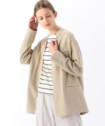 GALERIE VIE/リネンシルク フロントオープンジャケット/503012981