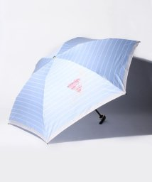 LANVIN en Bleu(umbrella)/LANVIN en Blue(ランバン オン ブルー)折りたたみ傘 【130周年記念 ボーダー】/502596977