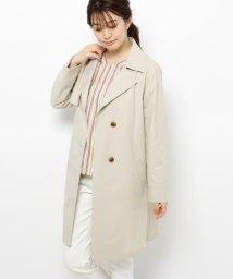 smart pink/【撥水加工あり/手洗い可】ボタンシングルコート/503013511